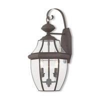 Livex 20284-07 Monterey 2 Light 20 inch Bronze Outdoor Wall Lantern