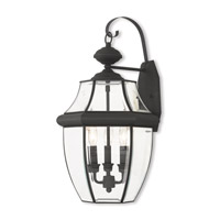 Monterey 3 Light 23 inch Black Outdoor Wall Lantern