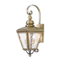 Livex 2031-01 Cambridge 2 Light 22 inch Antique Brass Outdoor Wall Lantern