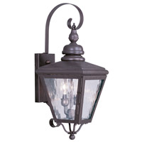 Livex Lighting Cambridge 2 Light Outdoor Wall Lantern in Bronze 2031-07