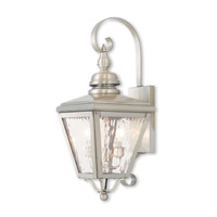 Livex 2031-91 Cambridge 2 Light 22 inch Brushed Nickel Outdoor Wall Lantern