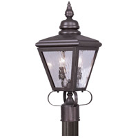 Livex 2032-07 Cambridge 2 Light 22 inch Bronze Outdoor Post Head