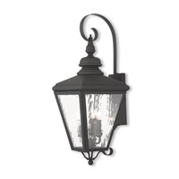 Cambridge 3 Light 29 inch Black Outdoor Wall Lantern