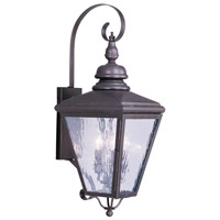 Livex Lighting Cambridge 3 Light Outdoor Wall Lantern in Bronze 2033-07