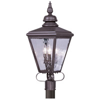 Livex Lighting Cambridge 3 Light Outdoor Post Head in Bronze 2034-07