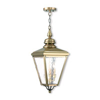 Livex 2035-01 Cambridge 3 Light 11 inch Antique Brass Outdoor Lantern