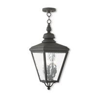 Livex 2035-04 Cambridge 3 Light 11 inch Black Outdoor Lantern