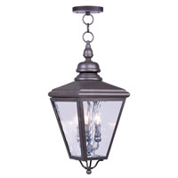 Cambridge 3 Light 11 inch Bronze Outdoor Hanging Lantern