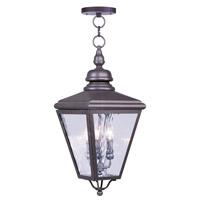 Livex 2035-07 Cambridge 3 Light 11 inch Bronze Outdoor Hanging Lantern