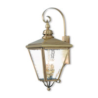 Cambridge 4 Light 35 inch Antique Brass Outdoor Wall Lantern
