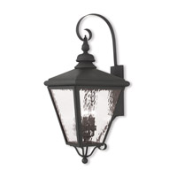 Cambridge 4 Light 35 inch Black Outdoor Wall Lantern