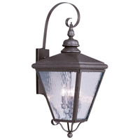 Livex Lighting Cambridge 4 Light Outdoor Wall Lantern in Bronze 2036-07
