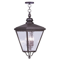 Livex Lighting Cambridge 4 Light Outdoor Hanging Lantern in Bronze 2037-07