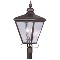 Livex 2038-07 Cambridge 4 Light 35 inch Bronze Outdoor Post Head