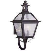 Livex Lighting Waldwick 2 Light Outdoor Wall Lantern in Bronze 2041-07