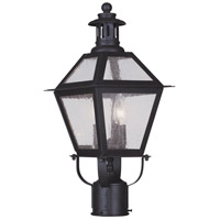 Livex Lighting Waldwick 2 Light Outdoor Post Head in Bronze 2042-07