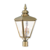 Cambridge 3 Light 27 inch Antique Brass Post-Top Lantern
