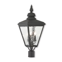 Livex 20433-04 Cambridge 3 Light 27 inch Black Post-Top Lantern