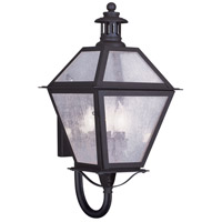 Waldwick 3 Light 23 inch Bronze Outdoor Wall Lantern