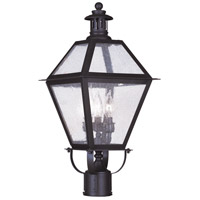 Livex Lighting Waldwick 3 Light Outdoor Post Head in Bronze 2045-07