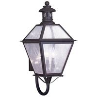 Livex Lighting Waldwick 3 Light Outdoor Wall Lantern in Bronze 2047-07