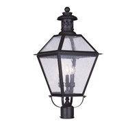 Livex 2048-07 Waldwick 3 Light 26 inch Bronze Outdoor Post Head