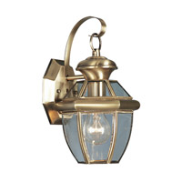 Livex Lighting Monterey 1 Light Outdoor Wall Lantern in Antique Brass 2051-01
