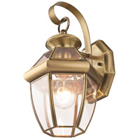 Livex 2051-01 Monterey 1 Light 13 inch Antique Brass Outdoor Wall Lantern alternative photo thumbnail