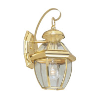 Livex 2051-02 Monterey 1 Light 13 inch Polished Brass Outdoor Wall Lantern