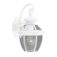 Livex Lighting Monterey 1 Light Outdoor Wall Lantern in White 2051-03