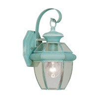 Livex Monterey 1 Light Outdoor Wall Lantern in Verdigris 2051-06