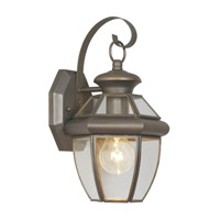 Livex Lighting Monterey 1 Light Outdoor Wall Lantern in Bronze 2051-07
