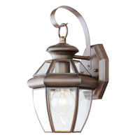 Livex Lighting Monterey 1 Light Outdoor Wall Lantern in Imperial Bronze 2051-58