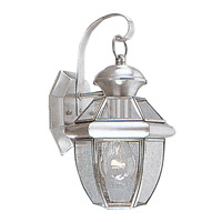 Livex Lighting Monterey 1 Light Outdoor Wall Lantern in Brushed Nickel 2051-91