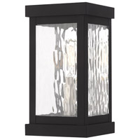 Livex 20521-04 Hopewell 1 Light 10 inch Black Wall Lantern