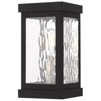 Livex 20521-04 Hopewell 1 Light 10 inch Black Wall Lantern