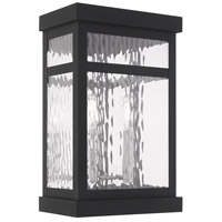 Livex 20524-04 Hopewell 2 Light 15 inch Black Wall Lantern