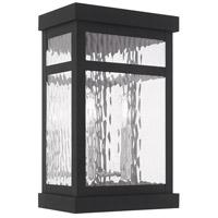 Livex 20524-04 Hopewell 2 Light 15 inch Black Wall Lantern