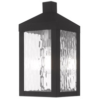 Livex 20531-04 Nyack 1 Light 11 inch Black Wall Lantern