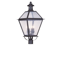 Livex Lighting Waldwick 4 Light Outdoor Post Head in Bronze 2054-07
