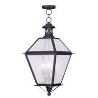 Livex Lighting Waldwick 4 Light Outdoor Hanging Lantern in Bronze 2055-07