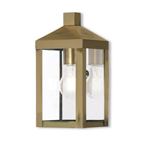 Nyack 1 Light 11 inch Antique Brass Outdoor Wall Lantern