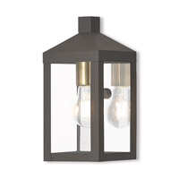 Nyack 1 Light 11 inch Bronze Outdoor Wall Lantern