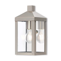 Nyack 1 Light 11 inch Brushed Nickel Outdoor Wall Lantern