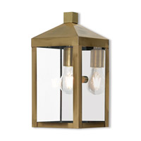 Nyack 1 Light 13 inch Antique Brass Outdoor Wall Lantern