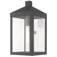Livex 20582-76 Nyack 1 Light 13 inch Scandinavian Gray Wall Lantern