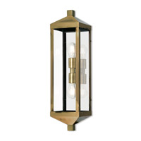 Nyack 2 Light 24 inch Antique Brass Outdoor Wall Lantern