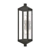Nyack 2 Light 24 inch Black Outdoor Wall Lantern