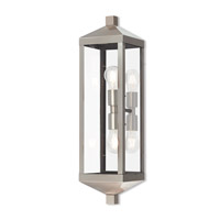Nyack 2 Light 24 inch Brushed Nickel Outdoor Wall Lantern