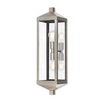 Livex 20583-91 Nyack 2 Light 24 inch Brushed Nickel Outdoor Wall Lantern